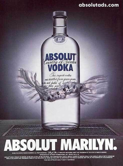 VODKA Magazine  PRINT AD 1995 ABSOLUT TRUTH