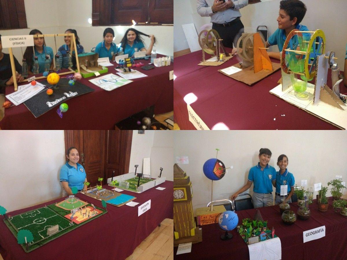 <p>Chihuahua, Chih.- Está mañana alumnos de la Secundaria Federal No. 9 hicieron una exposición sobre proyectos académicos y científicos