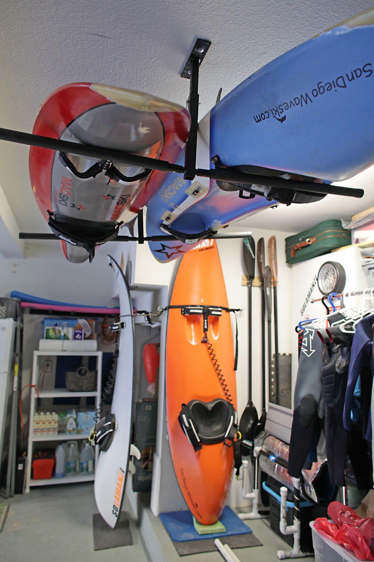 Hiport 2 adjustable 2 kayak ceiling storage kayak