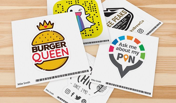 Free sticker of your business logo first 500 people