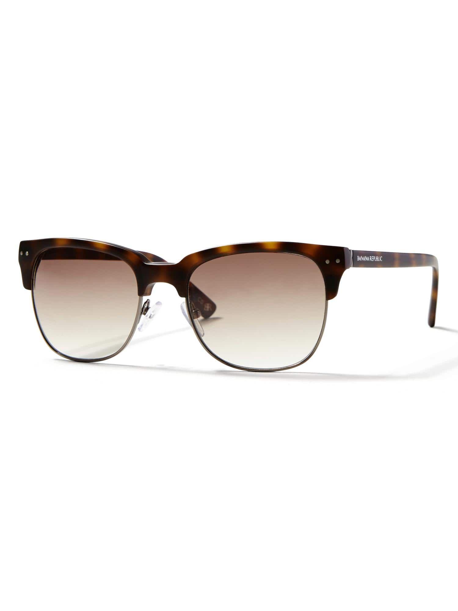 Xavier Sunglasses, Banana Republic, 100% UV protection.