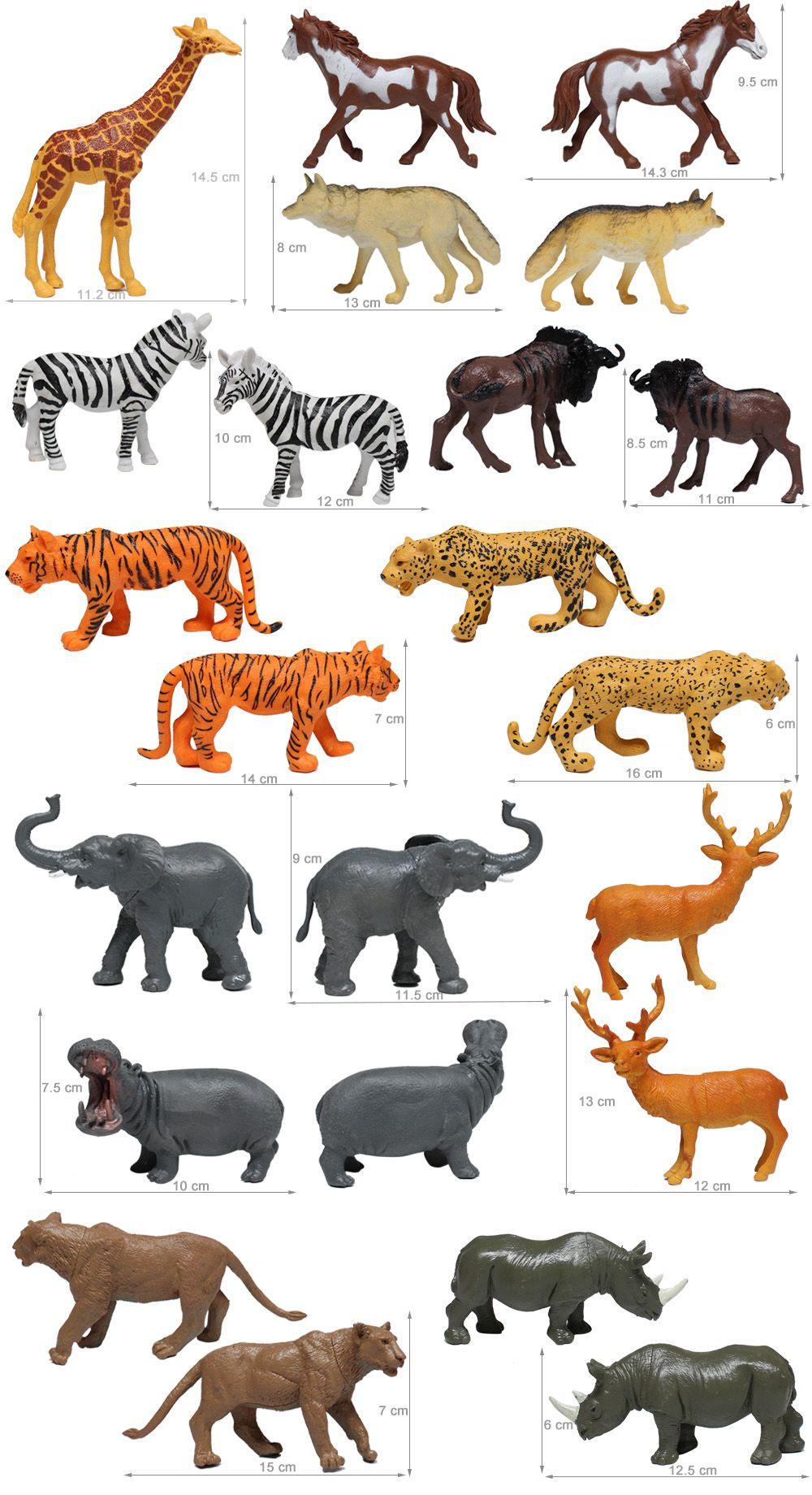 Animaux En Plastique Jouet cheap shantou plastic wild toy farm wildlife model plastic