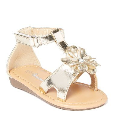 6abd50ace703 Love this Gold Flower-Embellished Sandal on  zulily!  zulilyfinds ...