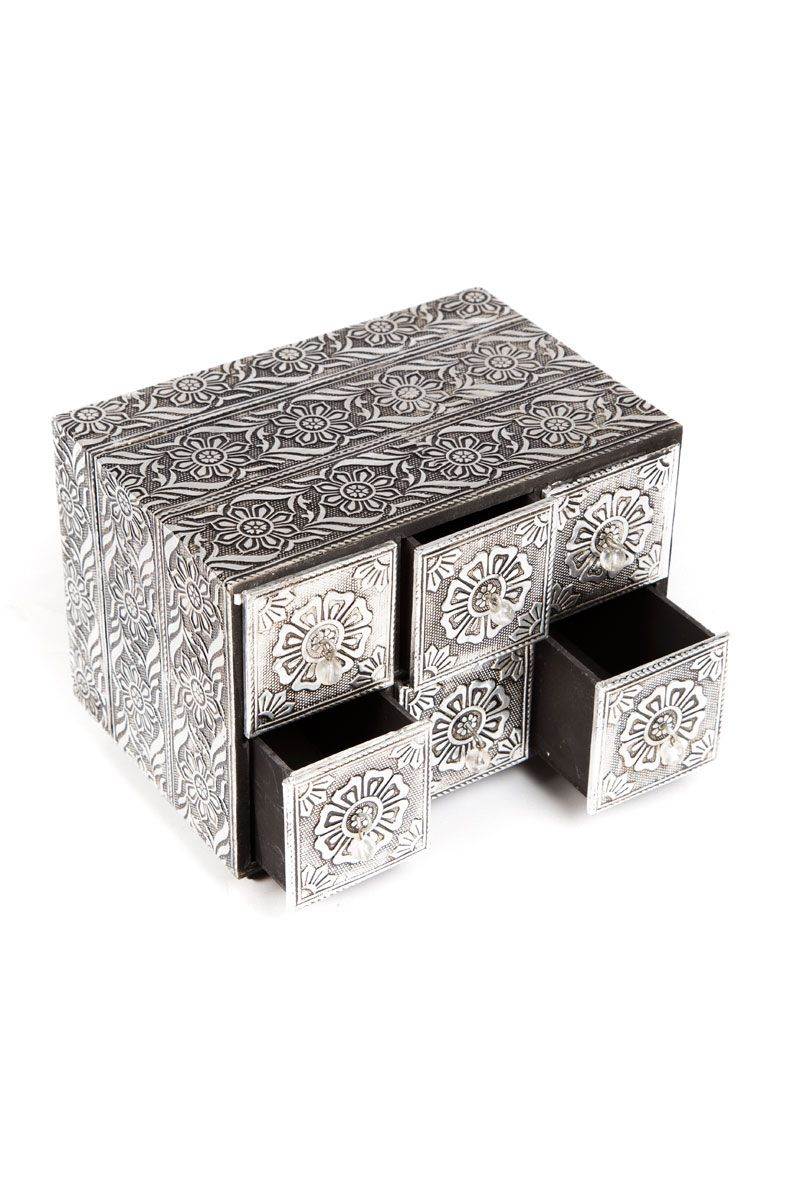 silver box + drawers
