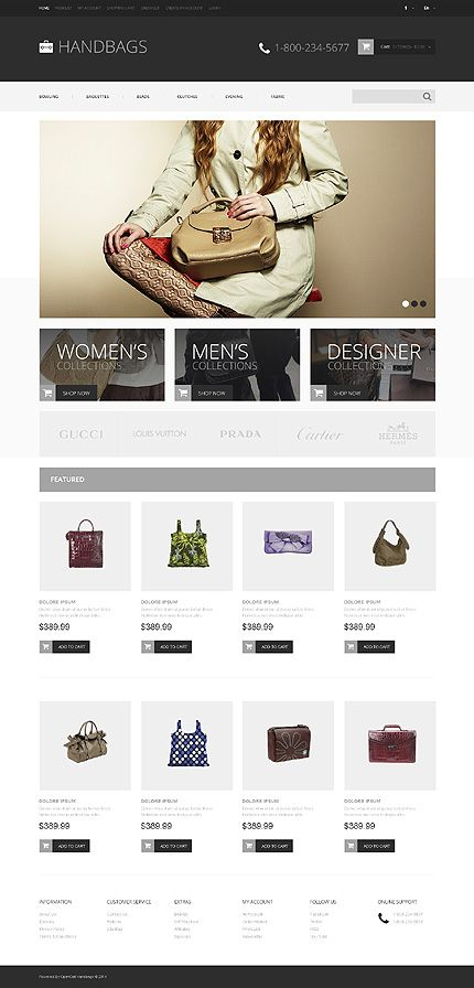 Pin by DitIndia on OpenCart | Pinterest | eCommerce and Template