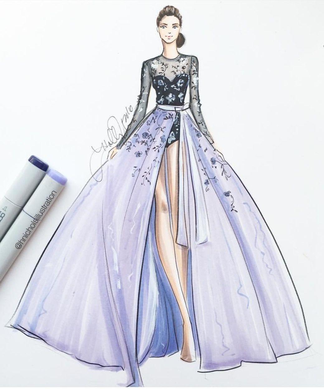 Hnicholsillustration fashion pinterest illustration - Kleider zeichnen ...