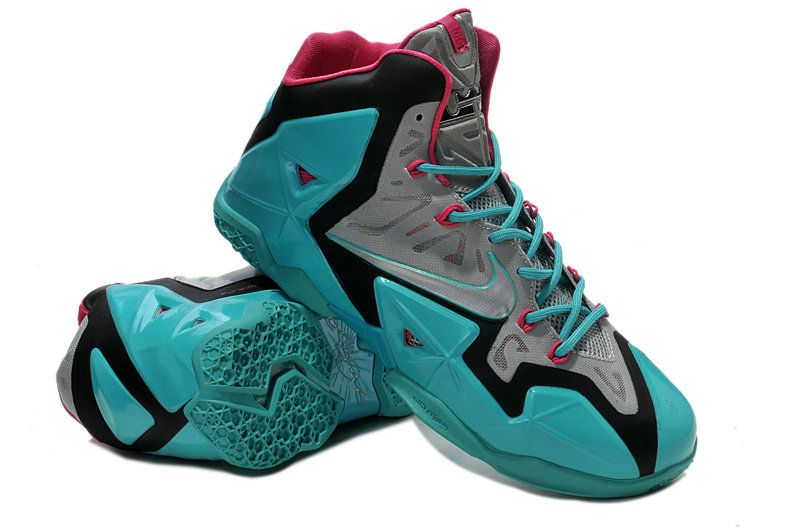 sports shoes 08327 40b77 Nike LeBron 11 (XI) South Beach Sport Turquoise Vivid Pink Slate Grey