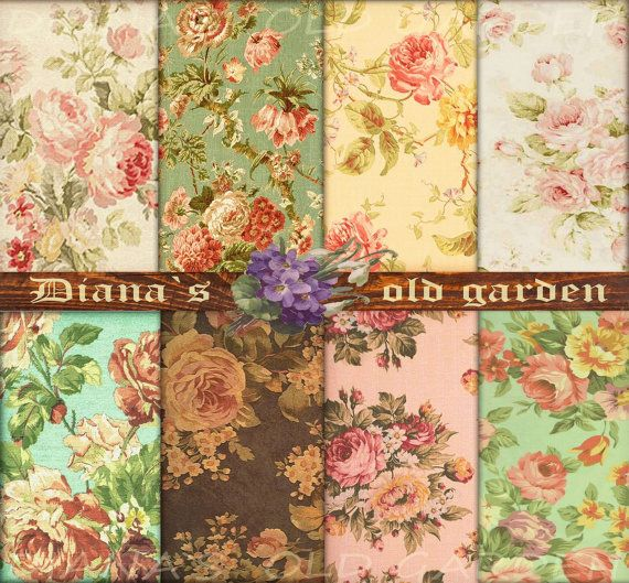 Floral Decoupage Download. Scrapbook download. Floral Digital Papers. Floral Backgrounds. Floral Download. Scrapbook digital paper - DG-16