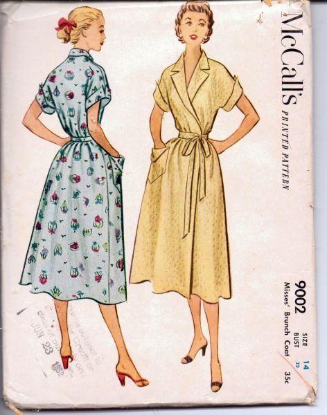 Vintage Wrap Dress Pattern