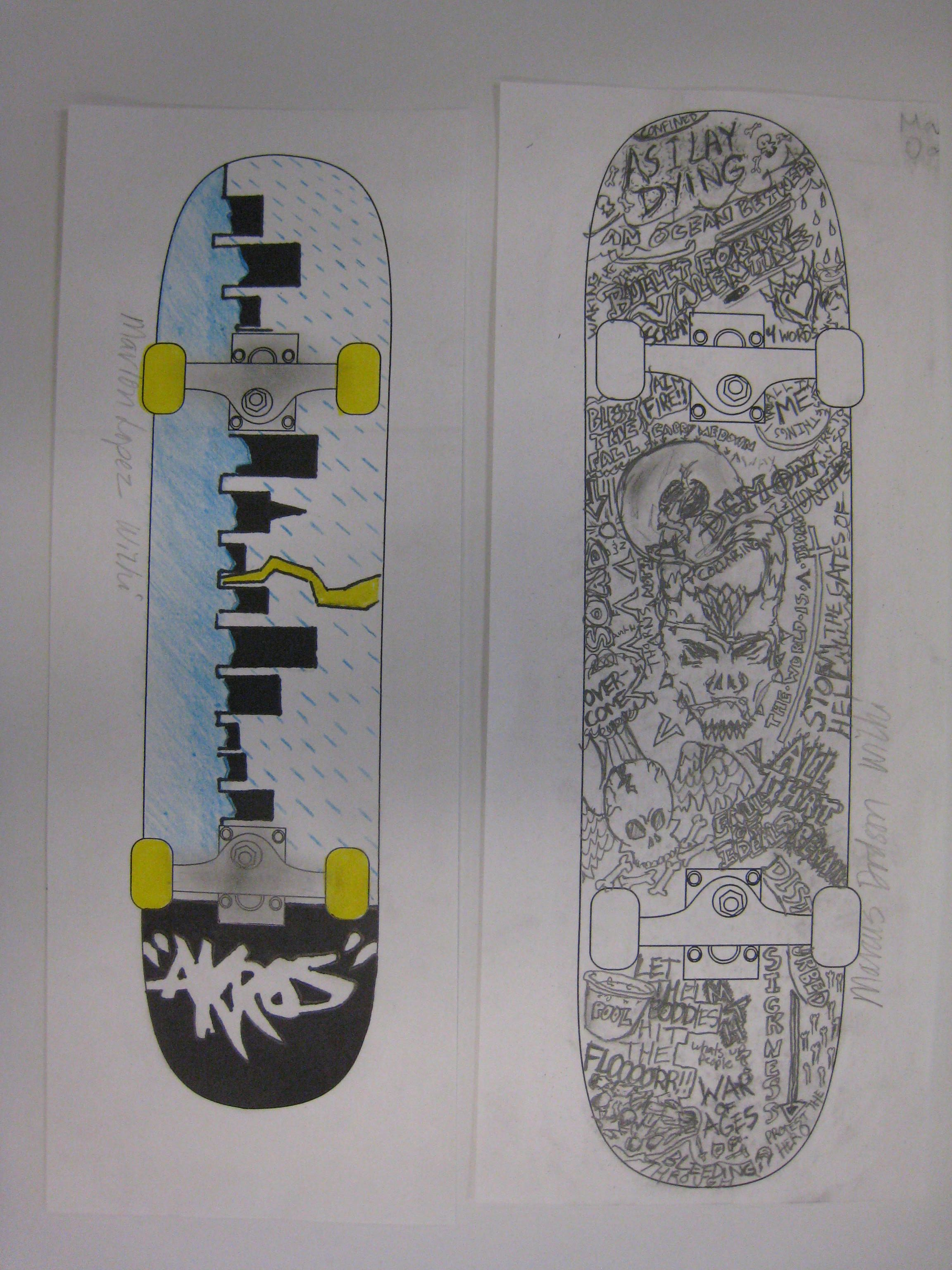 middle school students love to design skateboards i provide a