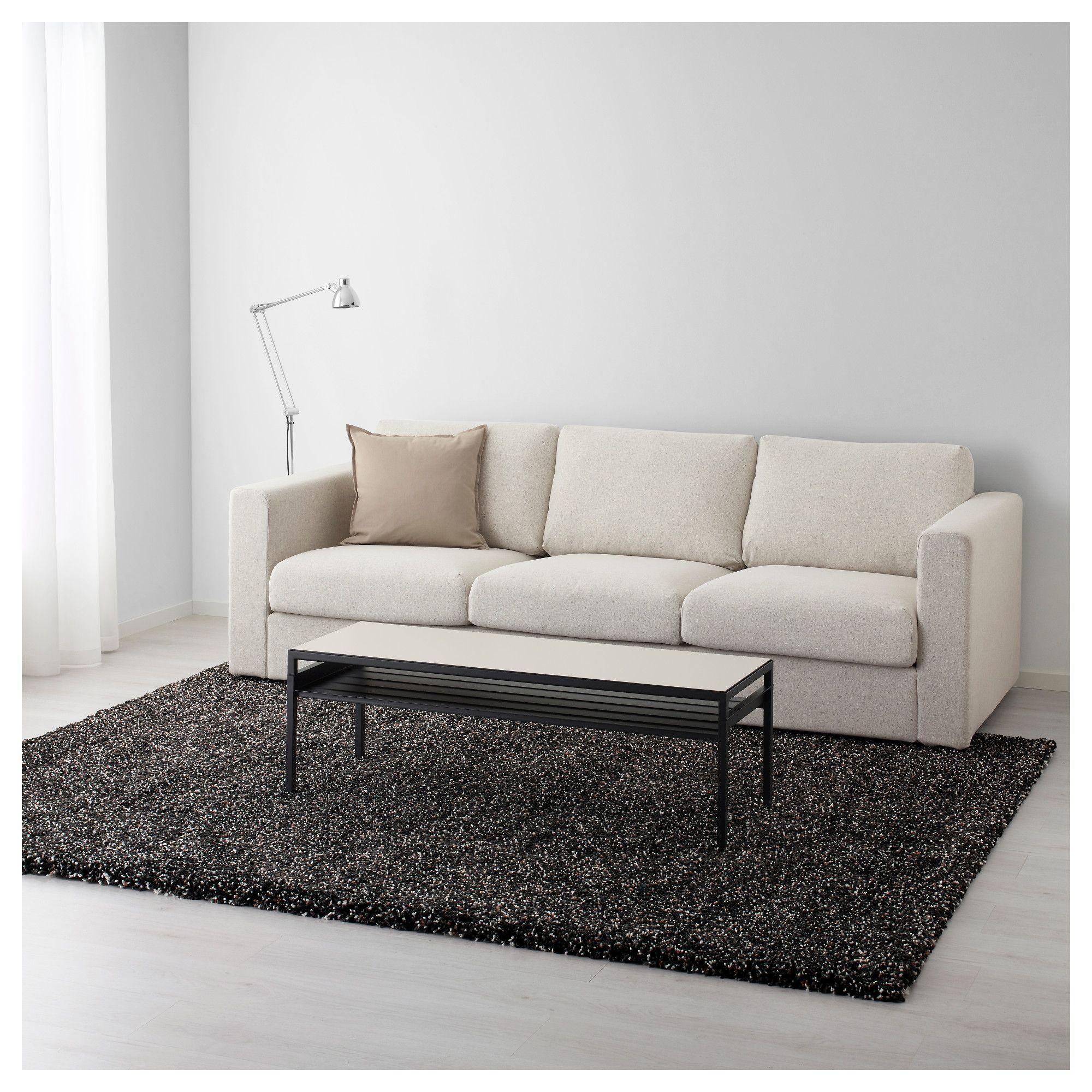 IKEA VINDUM Rug, high pile dark gray Ikea, Rugs, How