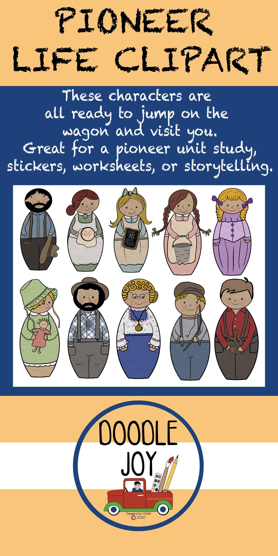 Pioneer Life Clipart Teacher Moments Pioneer Life Study History [ 3000 x 1500 Pixel ]