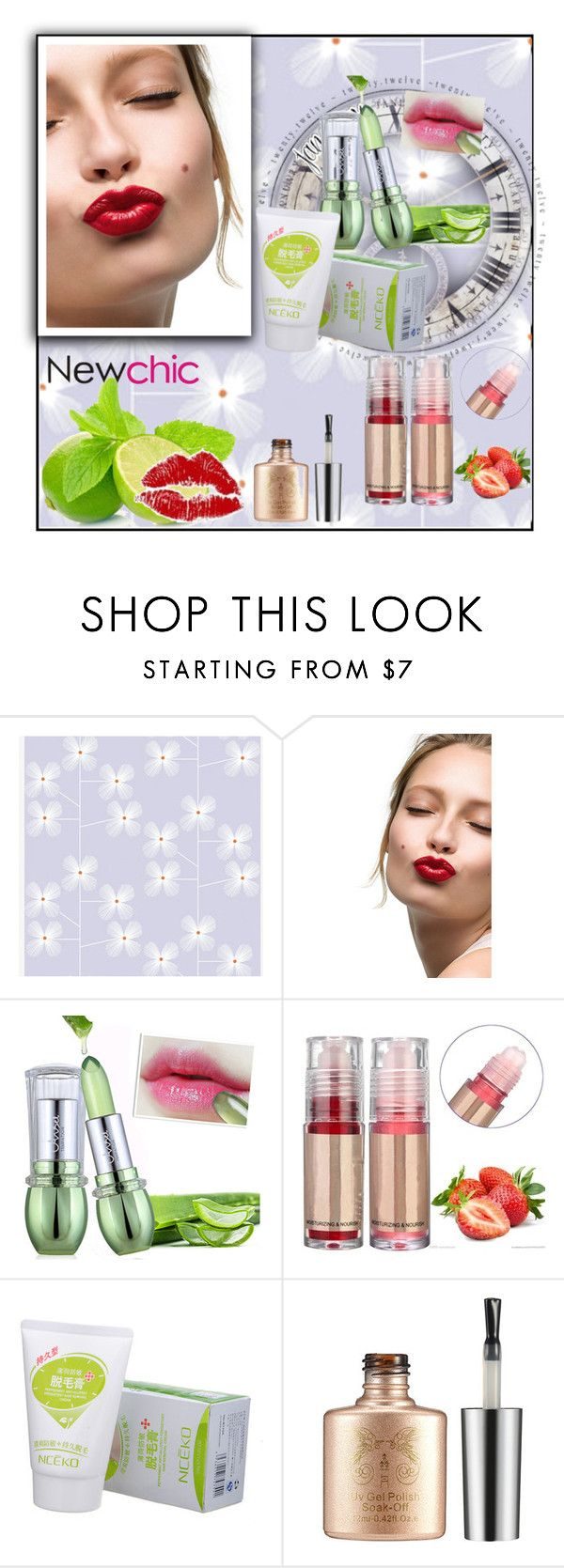 """""""NEWCHIC.COM 2/28"""" by blagica92 ❤ liked on Polyvore featuring Clarins"""