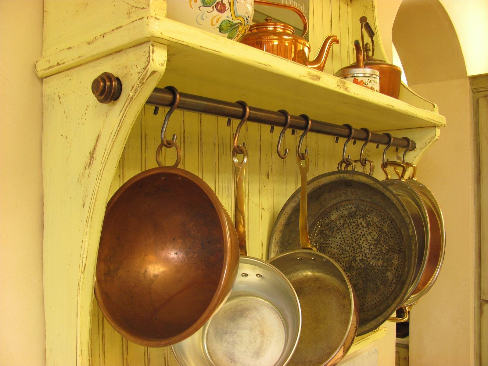 Copper Pot Rack & Hooks | Dwell | Pinterest | Copper pots, Pot rack ...
