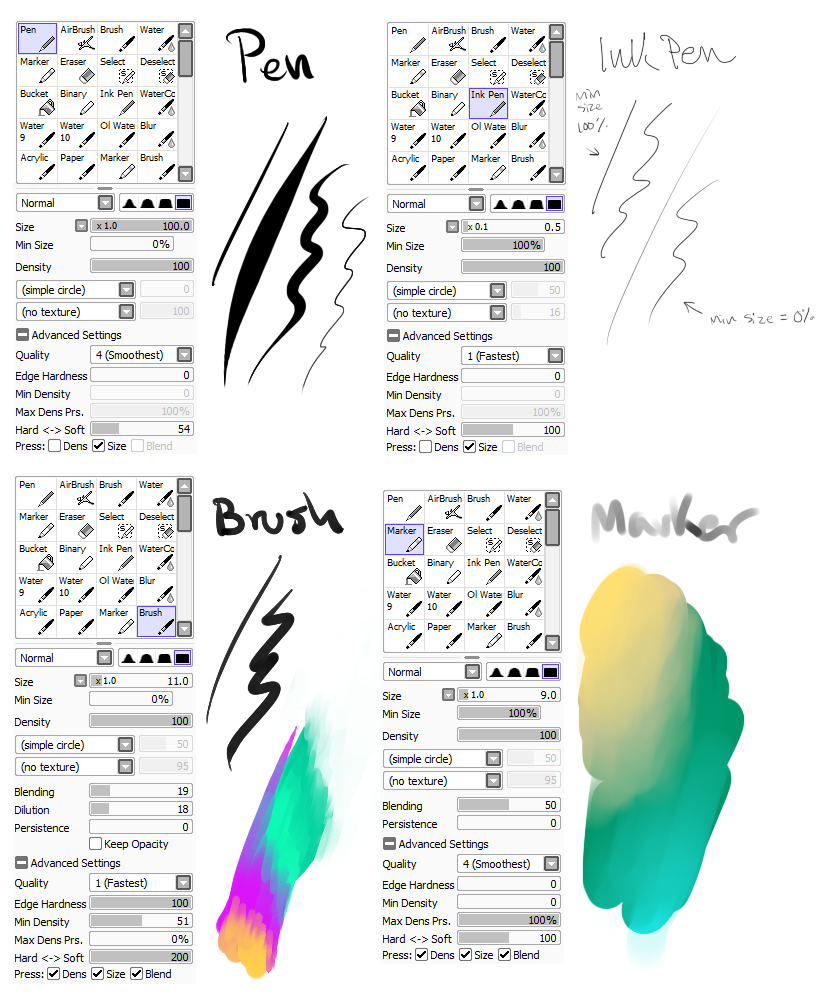my brush settings by snowy-town deviantart com on