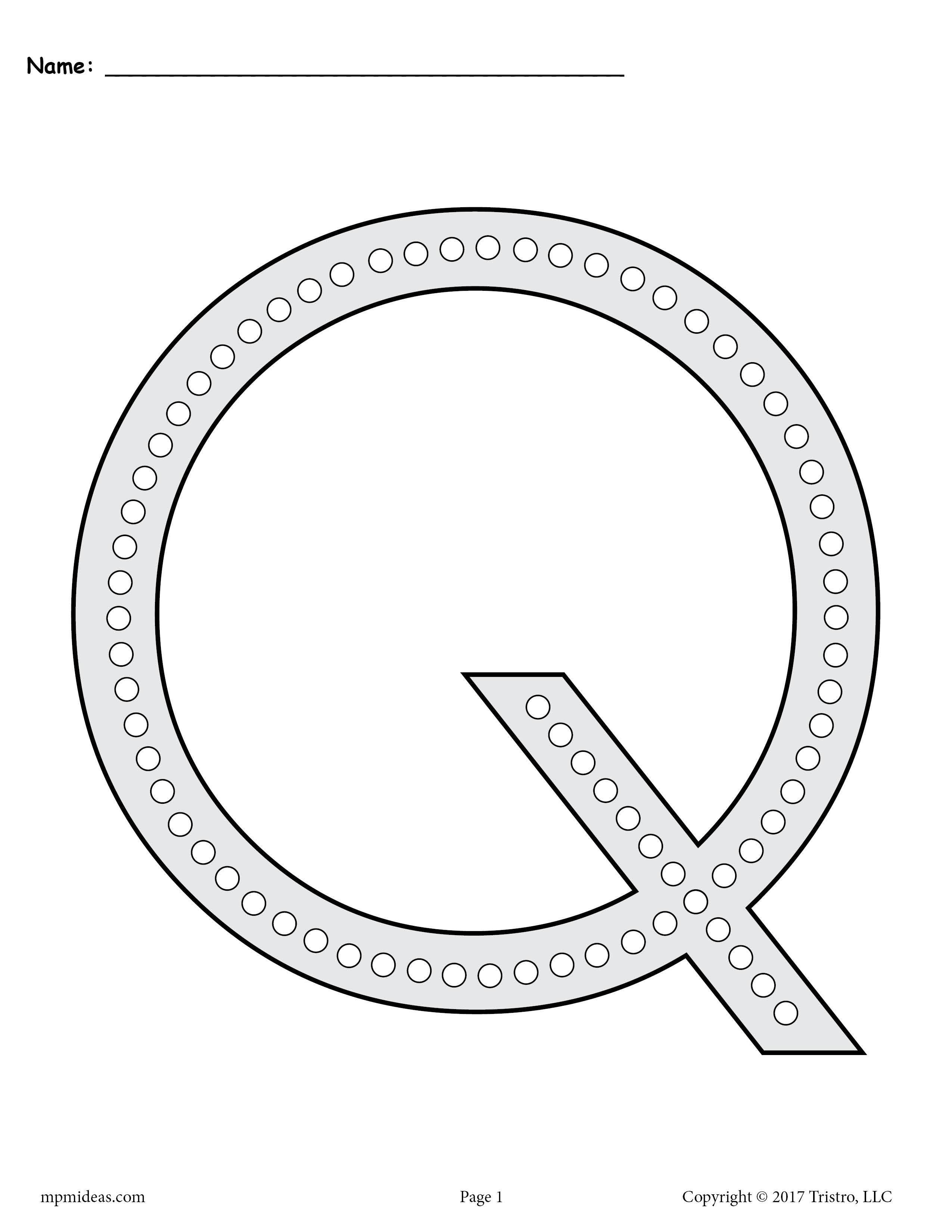 Letter Q Q Tip Painting Printables Includes Uppercase And Lowercase Letter Q Worksheets Letter Q Crafts Q Tip Painting Letter Q Worksheets