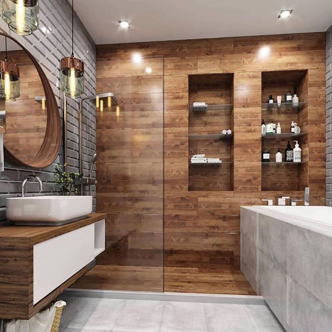 Beautiful Contemporary Bathroom Design What Do You Think Of The Layout And Textures Modern Bathroom Design Small Bathroom Makeover Bathroom Design Decor