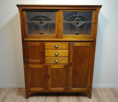 Tassie Oak Leadlight Dresser