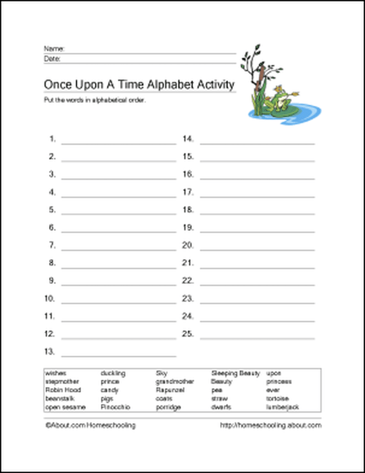 Free Fairy Tales Printables School Fairy Tales Fairy