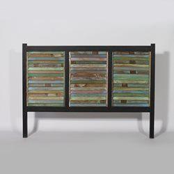 t te de lit en manguier colore et m tal 150cm ethnik mk101 bois colore made in meubles. Black Bedroom Furniture Sets. Home Design Ideas