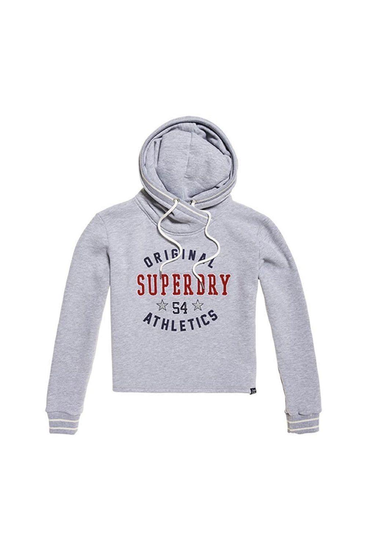 Superdry Damen Pullover Playoff Crop cut Hoodie. #Affiliate