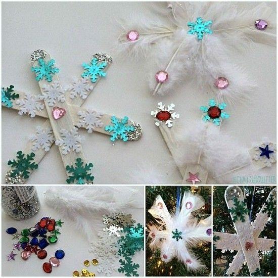 Kreative Schneeflocken basteln - 50 einfache Ideen für die festliche Weihnachtsdeko #christbaumschmuckbastelnkinder