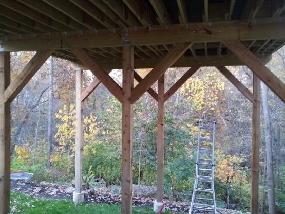 deck support post cross bracing