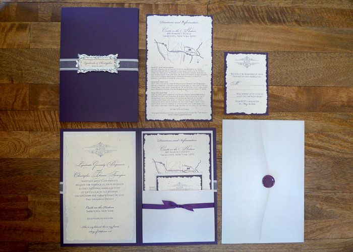 Classic Royal wedding invitation design by I Do Concepts