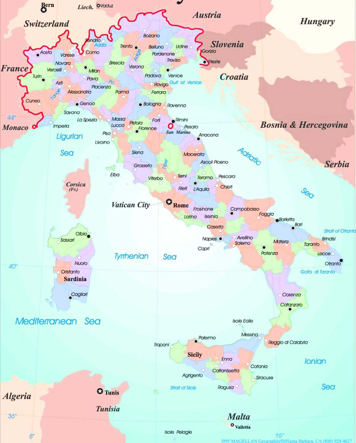 North Of Italy Map.Map Of Italy Showing Cities 01 Map Of Northern Italy Italy Map