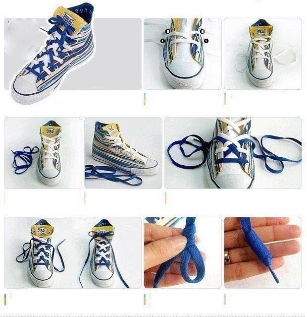 7 вариантов шнуровки кед (mit Bildern)