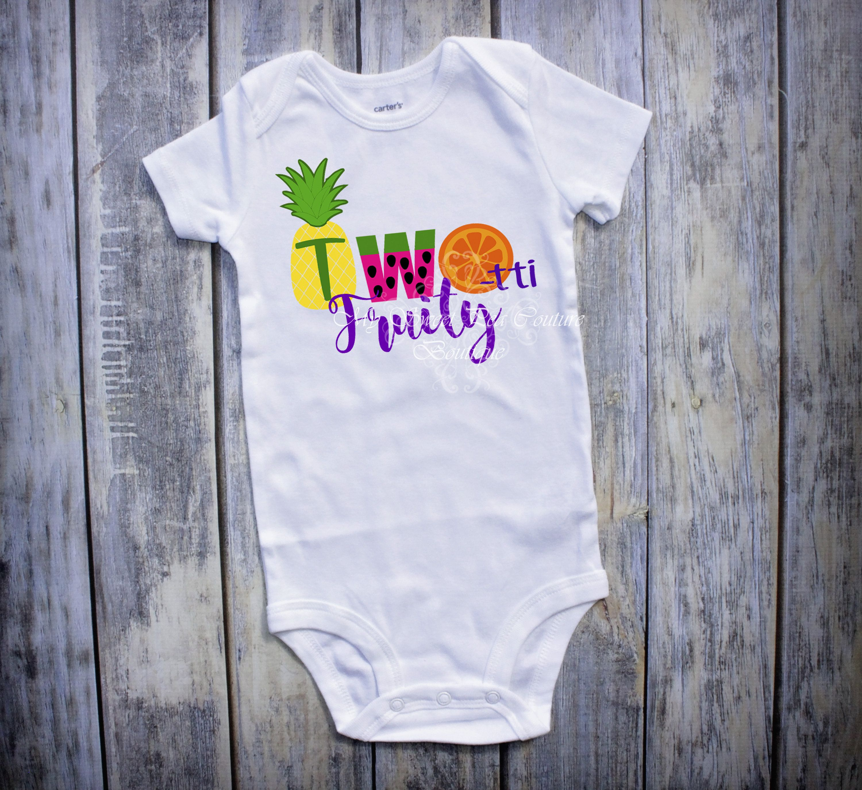 Two Tti Frutti Second Birthday Outfit Fruit Tutti 2nd Cake Smash By