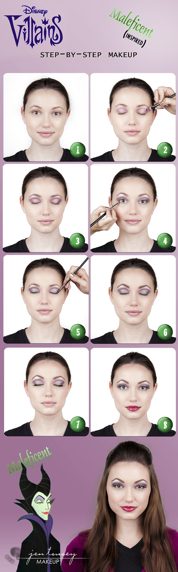 Step by step maleficent makeup tutorial makeup guide pinterest step by step maleficent makeup tutorial baditri Gallery