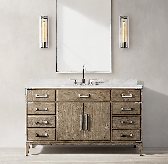 Bezier Single Extra Wide Vanity Vanity Vanity Design Faucet Style