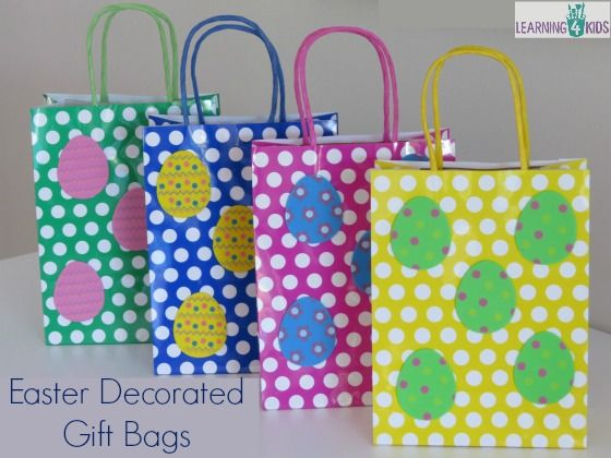 Simple easter gift ideas decorated gift bags easter and easter easter craft ideas eg decorated gift bags negle Image collections