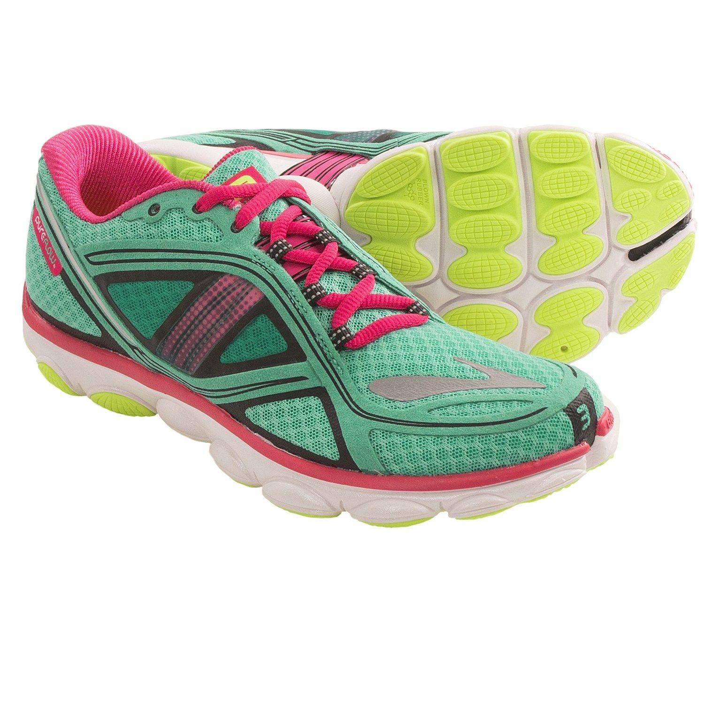 cc2585dbf6525 Brooks Pureflow 3 Running Shoes (For Women) in Pool Green Raspberry Sorbet  Black