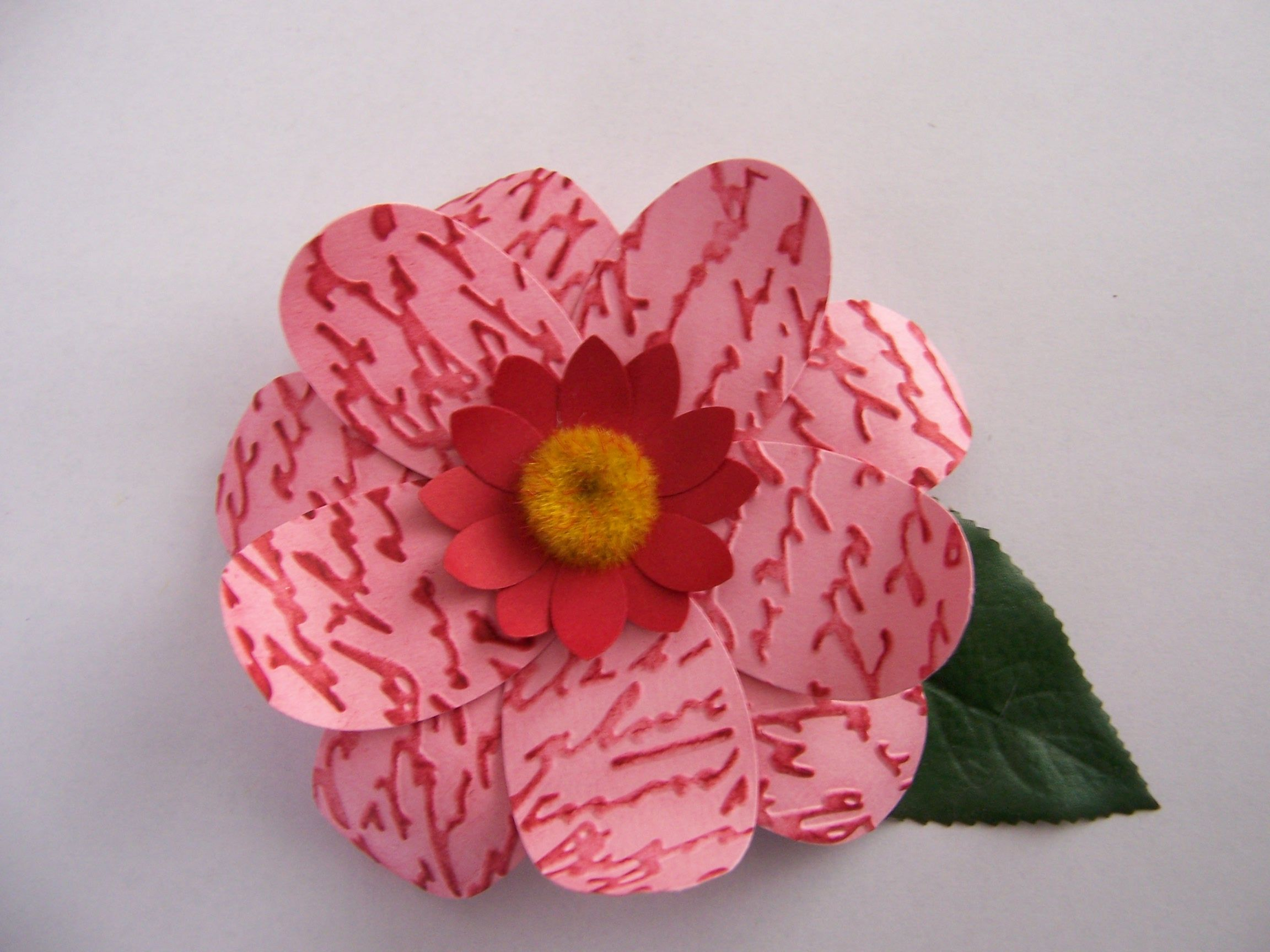 Paper Flowers Using Craft Punches Crafts Pinterest Craft