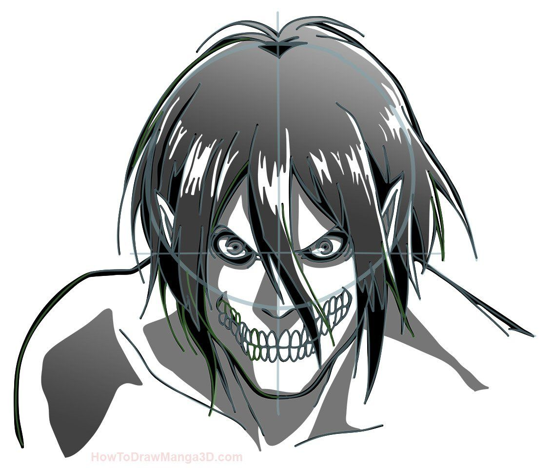 How To Draw Eren In Titan Form Attack On Titan Art Attack On Titan Anime Attack On Titan Eren