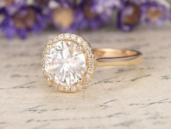 Items similar to 18K yellow gold ring 1.5 carat moissanite engagement ring halo diamond ring antique unique gift bridal promise anniversary ring for her on Etsy#18k #anniversary #antique #bridal #carat #diamond #engagement #etsy #gift #gold #halo #items #moissanite #promise #ring #similar #unique #yellow
