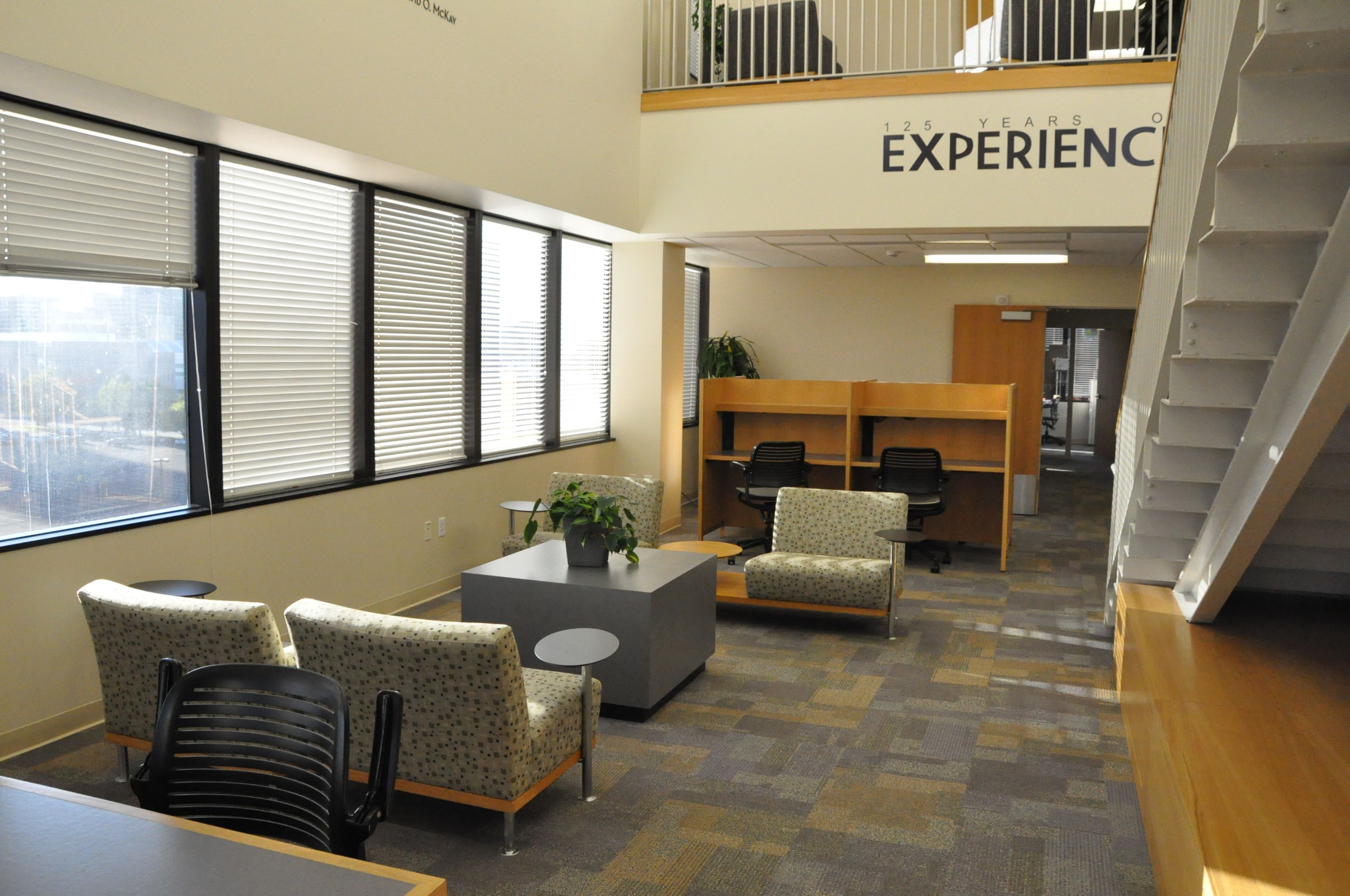 One of many study areas at LDS Business College The BC Campus
