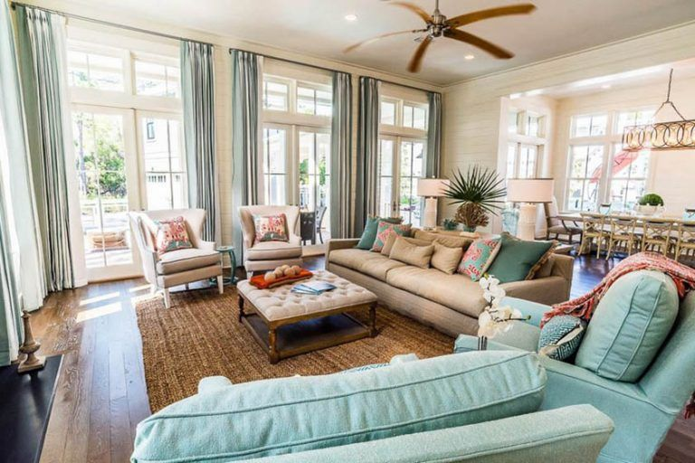 21 Coastal Themed Living Room Designs (Decorating Ideas ...