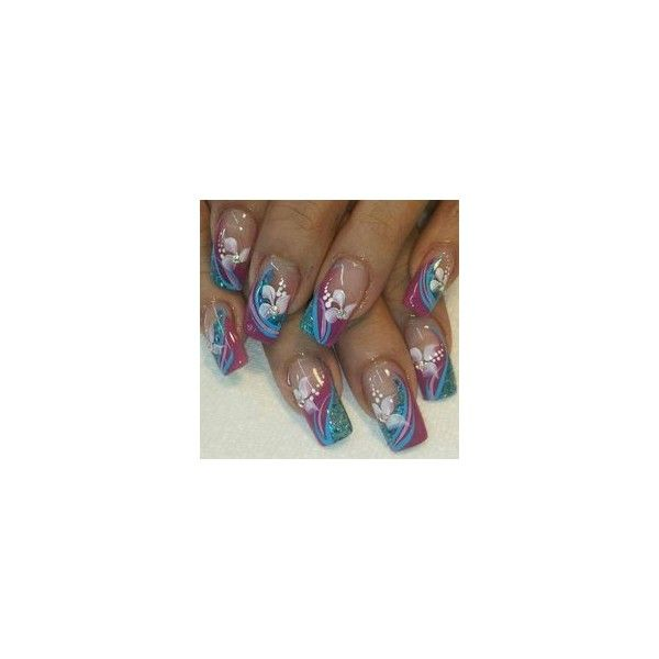 Crazy Summer Nails ❤ liked on Polyvore featuring beauty products, nail care and nail treatments