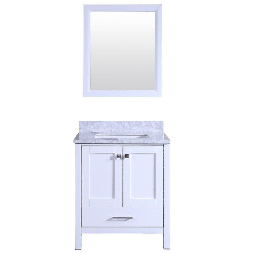 eviva Totti Shaker 30 Transitional White Bathroom Vanity White