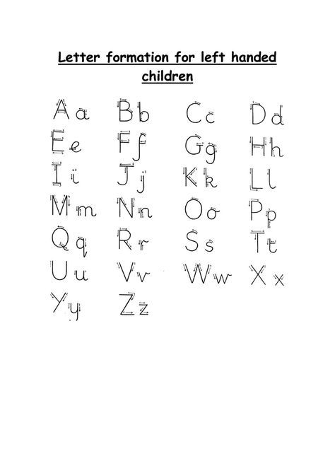 Left Handed Letter Formation  Kids