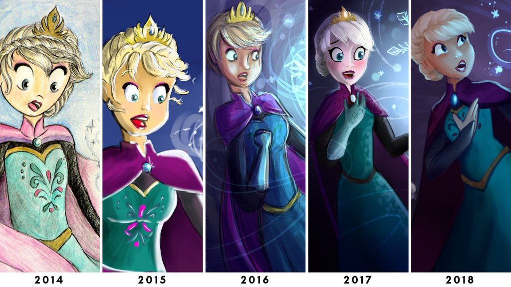 5 years of progress (Draw This Again) by WaterbenderGirl96