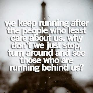 life inspiration quotes: Running after people inspirational quote