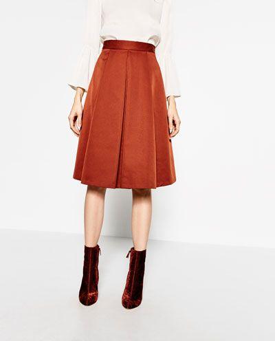 プリーツ入りミディスカート-すべてを見る-スカート-レディ-ス | ZARA 日本