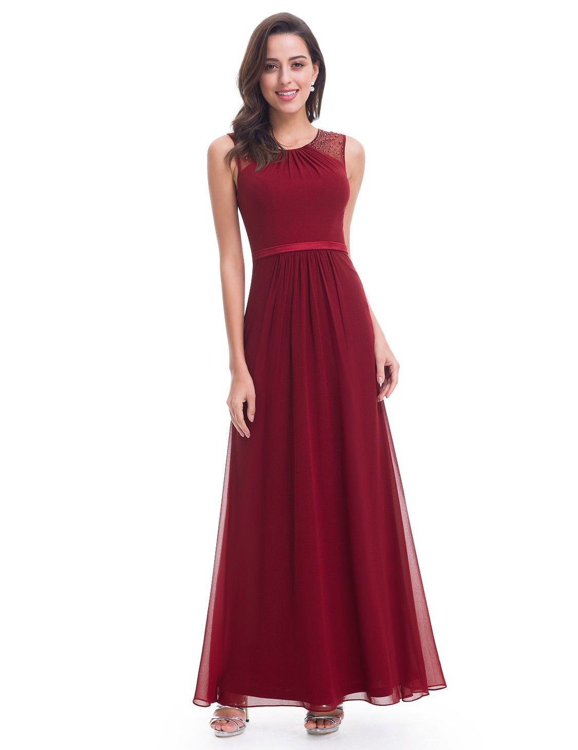 Women's Elegant Sleeveless Long Evening Party Dress | Ever ...