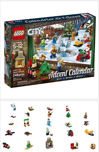 Lego City Advent Calendar 60155 Building Kit 248 Piece Lego City