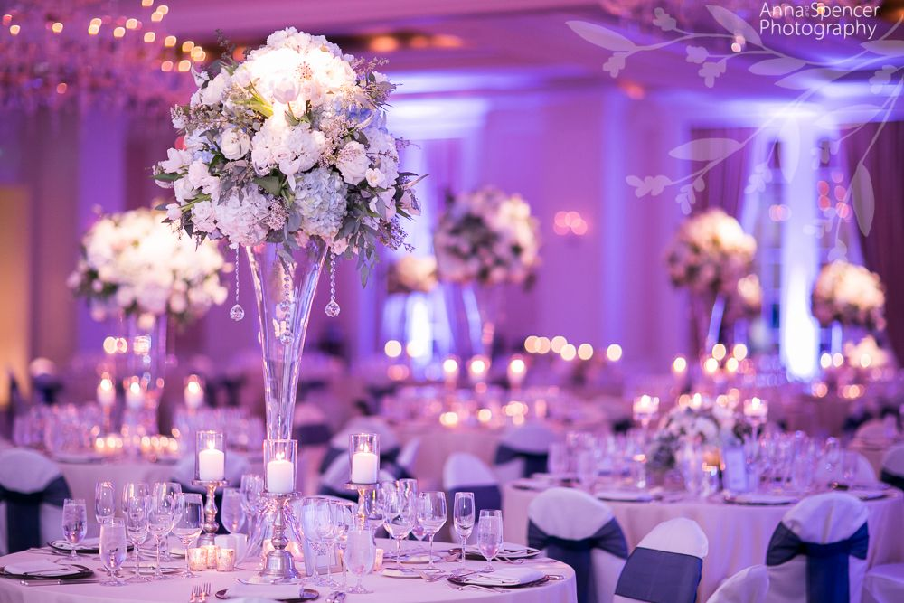 Anna And Spencer Photography Atlanta Wedding Photographers White Rose Hydrangea Reception Table Arrangements