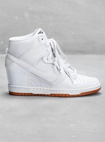 basket nike compensée blanche